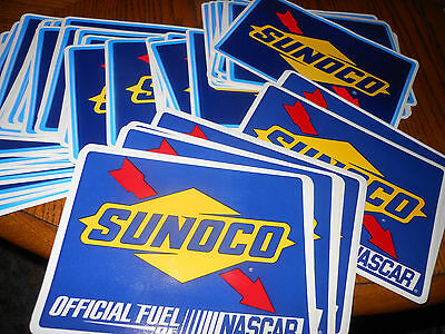 Huge Sunoco Gas Fuel Oil Of Nascar Racing Sticker Decal Lot 5 X 6 1/2 Lot Of 50