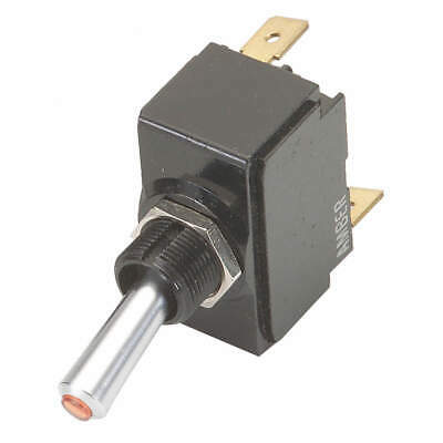 CARLING TECHNOLOGIES Toggle Switch,SPDT,20A @ 12V,QuikConnct, LT-1561-601-012