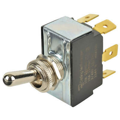 CARLING TECHNOLOGIES Toggle Switch,DPDT,10A @ 250V,QuikConnct, 6GG5B-73