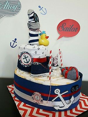 SALE SAILOR nappy cake baby gift