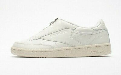6f919b8dc901d4 Reebok Women s Club C 85 Zip Leather Sneakers NEW AUTHENTIC White BS6612
