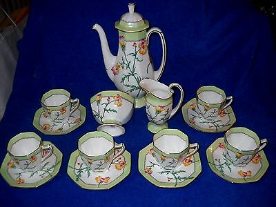 Antique Royal Doulton England Coffee Tea Set H-4077 Vintage dates from 1902-1922