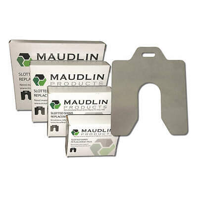MAUDLIN PRODUCTS Slotted Shim,D-5x5 Inx0.020In,Pk20, MSD020-20