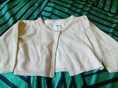 New Kids Girls Gold Shimmer Crop Cardigan Size 6