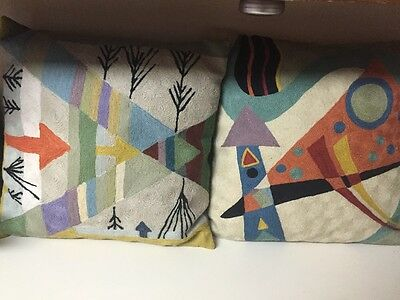 2 India Embroidered Wool Pillow Case Art Deco Arrow Throw pillows