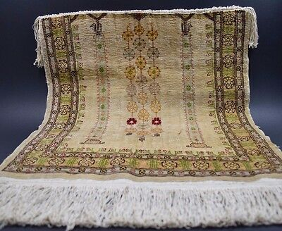 Turkish Hereke Pure Silk Carpet Persian Silk Rug Wall Hanging Decorative handmad