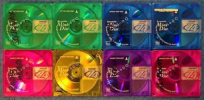Eight (8) pre-owned 74 minute Maxell MiniDiscs no cases FREE POST