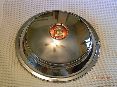 1938 Cadillac Hubcap with Rubber