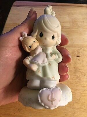 precious moments growing in grace age 4 -Blonde Girl- 136239