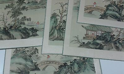 (5) VINTAGE Chinese / Japanese school? landscape, village painting , calligraphy