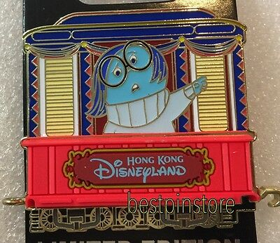 Disney pin HKDL Rail Train Pin Series LE300  - Inside Out - Sadness Pin