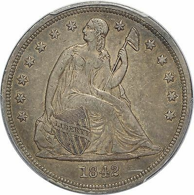 1842 Liberty Seated Dollar - PCGS XF45 - Sweet Original Coin!!