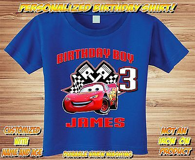 Tow Mater Cars Personalized Birthday Shirt - Custom Party disney lightning