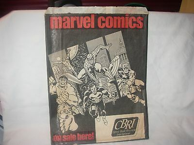 Rare Marvel 1989 Retail Paper Comic Book Bag Hulk Spiderman Punisher Destroyer
