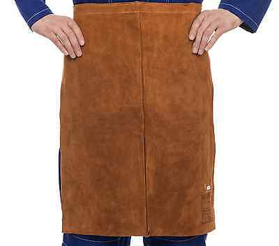 WELDAS Lava Brown™ Split Cowleather Welding Waist Apron, 60 cm long x 60 cm wide
