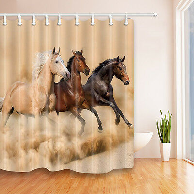 71x71 inch Horse Shower Curtain with Hooks