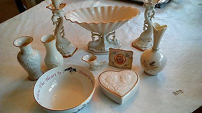 Beautiful Lenox vintage handcrafted fine china. Ivory with 24k trim 10 piece set