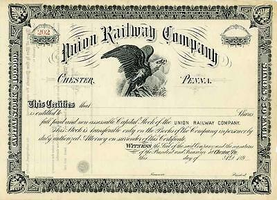 189_ Union Railway Stock Certificate