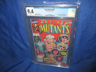 New Mutants #87 CGC 9.4 WHITE PAGES 1st APPEARANCE OF CABLE Mcfarlane & Liefeld