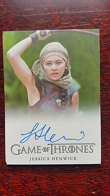 Jessica Henwick as Nymeria Sand Autograph Card Game of Thrones Season 6