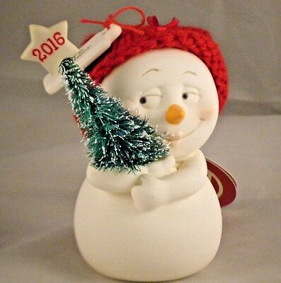 Department 56 Snowpinions Ornament Tree Hugger Dated 2016