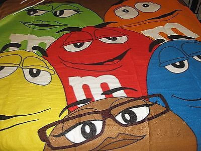 "m&m's Characters Blanket 60"" x 50"" with Ms. BROWN New in Package"