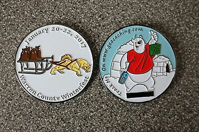 2017 Winterfest Event Trackable Geocoin, Unactivated