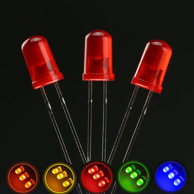 Ultra Bright 3mm 5mm LED Bulbs Red Green Blue Yellow  Orange Emitting Diode