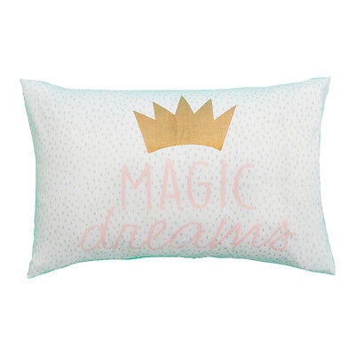 Printed Pillowcase CROWN Kids Pillowcase Decor Novelty wording MAGIC DREAM