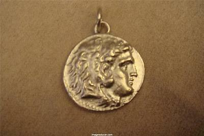 Ancient Roman King Alexander The Great Coin Pendant 24 Kt Gold Plated