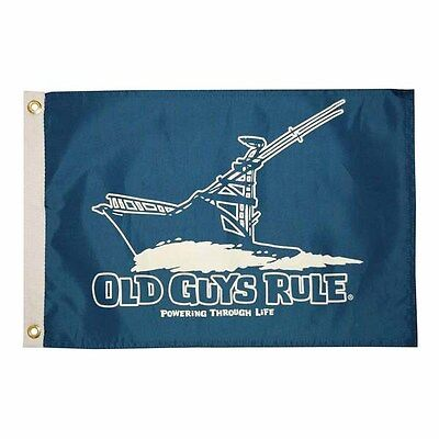 New Two-Sided Boat Flag Nylon Double-Sided Old Guys Rule Boat Flag Free Shipping