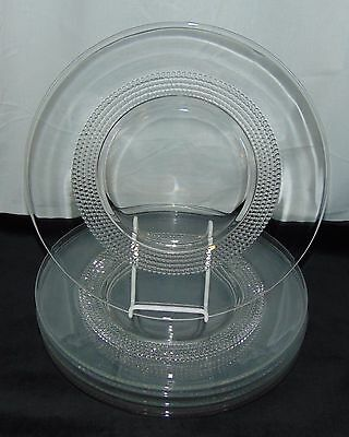 "6 Duncan & Miller TEAR DROP CRYSTAL *10 3/4"" DINNER PLATES*"