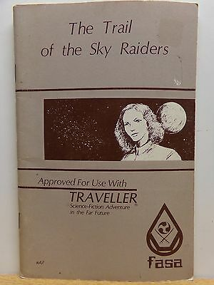 FASA Traveller: Trail of the Sky Raiders (with map ) - 1982 - FREE SHIPPING