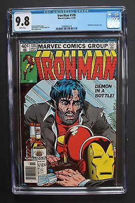 IRON MAN #128 classic Tony Stark Demon in a Bottle ALCOHOLIC 1979 CGC NM/MT 9.8