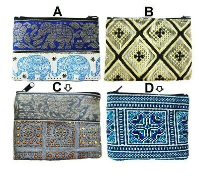 Wholesale 10x Thai mini Gift Handmade Cosmetic Banknote Coins Bags Purses Wallet