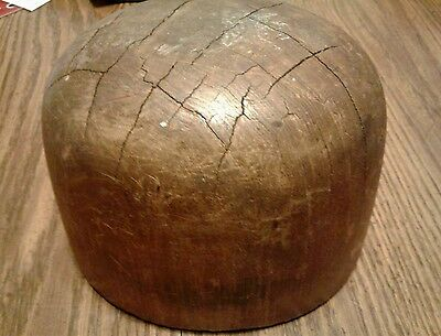 Antique Vintage Millinery HAT MOLD Solid Wood Block Form Marked Grand