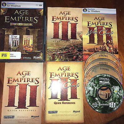 PC Game - Age of Empires III 3 Gold Edition - Complete in Excellent Condition