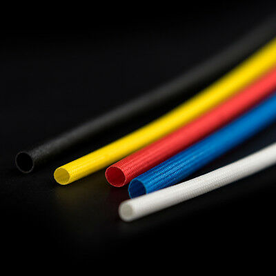 Silicon Fiber Glass Insulated Tube Braided High Temperature Sleeving Dia 1~25mm
