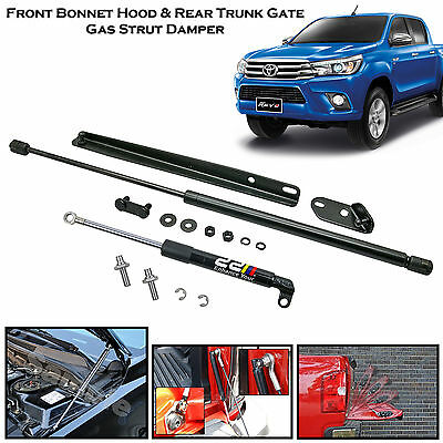 NEW! Front Bonnet + Rear Trunk Strut Damper|Fits Toyota Hilux REVO Pickup|'15++