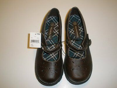 NWT NEW Girls Youth Size 2 Falls Creek Brown Casual Mary Jane School Shoes