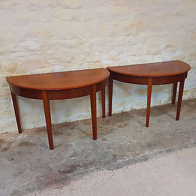 Pair of Mahogany D-End Console Tables George III & Later (C19th Antique Dining)