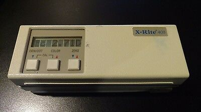 X-Rite 408 Color Reflection Densitometer. Great Used Shape!