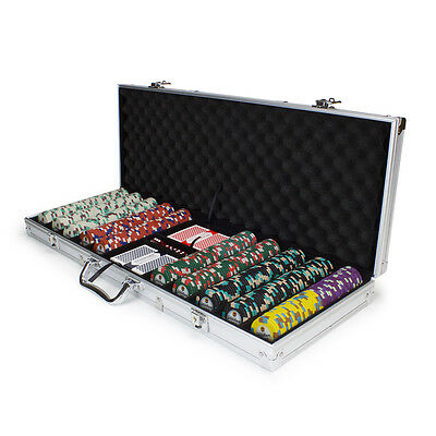 NEW 500 PC Showdown 13.5 Gram Clay Poker Chips Aluminum Case Set Pick Your Chips