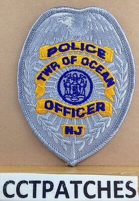 Township Of Ocean, New Jersey Police Officer Badge Shoulder Patch Nj