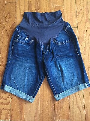 Old Navy Maternity Jean Shorts Full Belly Panel Size 2