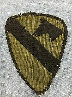 Original VN Theater Made 1stCavalry Twill Patch, In-country Made