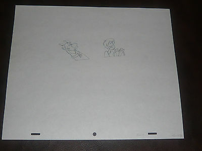 Scooby Doo Original Production Art  - Scooby and Shaggy Driving