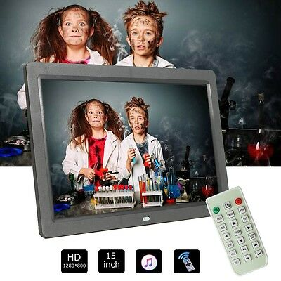 "12"" LCD Full HD Digital Photo Frame Picture Clock Movie Player + Remote Control"