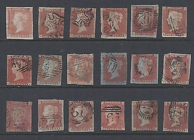 QV 1841 PENNY REDS x 18 INCL MINT and MX