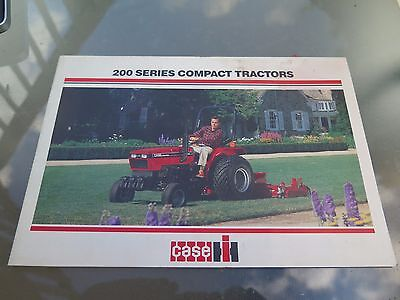 Case IH 200 Series Compact Tractor advertising brochure pamphlet
